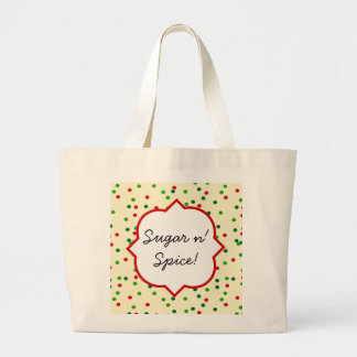 Christmas Confetti • Sugar Cookie Sprinkles Jumbo Tote Bag
