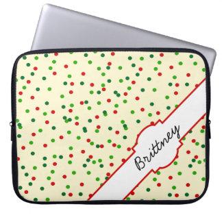 Christmas Confetti • Sugar Cookie Sprinkles Laptop Computer Sleeves