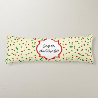 Christmas Confetti • Sugar Cookie Sprinkles Body Pillow