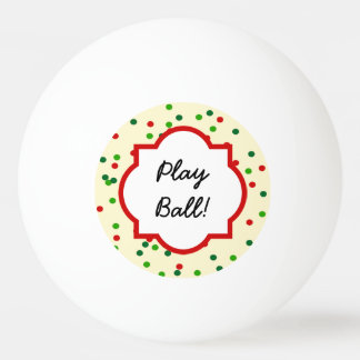 Christmas Confetti • Sugar Cookie Sprinkles Ping-Pong Ball