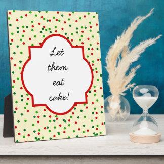 Christmas Confetti • Sugar Cookie Sprinkles Plaque