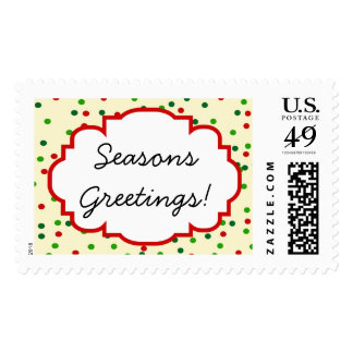 Christmas Confetti • Sugar Cookie Sprinkles Postage Stamp
