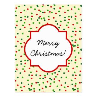 Christmas Confetti • Sugar Cookie Sprinkles Postcard