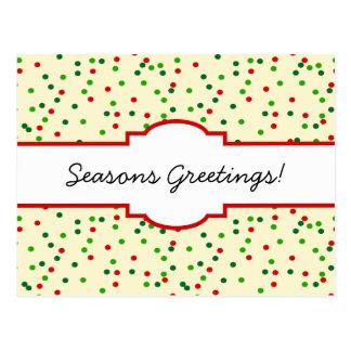 Christmas Confetti • Sugar Cookie Sprinkles Post Cards