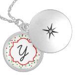 Christmas Confetti • Sugar Cookie Sprinkles Round Locket Necklace