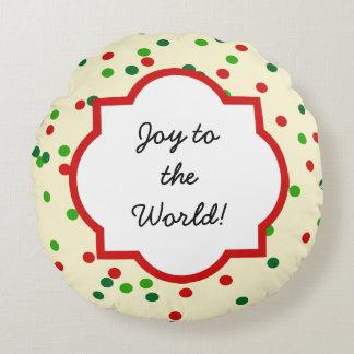 Christmas Confetti • Sugar Cookie Sprinkles Round Pillow