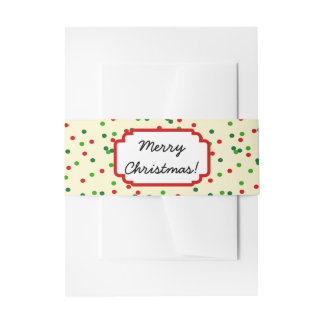 Christmas Confetti • Sugar Cookie Sprinkles Invitation Belly Band