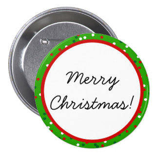Christmas Confetti • Traditional Candy Colors Button