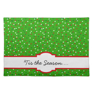 Christmas Confetti • Traditional Candy Colors Placemat