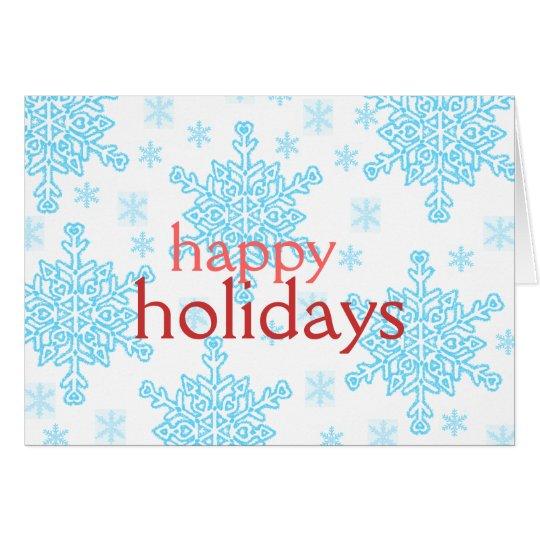 Christmas Contemporary Snowflakes Card