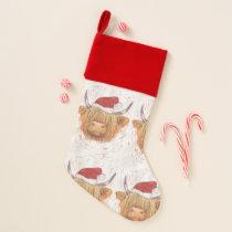christmas coo highland cow stocking