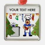 Christmas Cook Square Metal Christmas Ornament