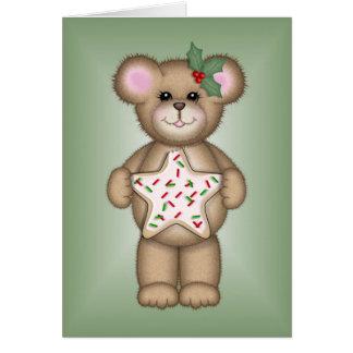 Christmas Cookie Bear Cards