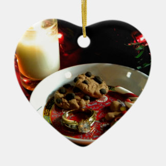 Christmas Cookie Candle Ceramic Ornament