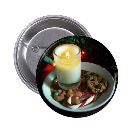 Christmas Cookie Candle III 2 Inch Round Button