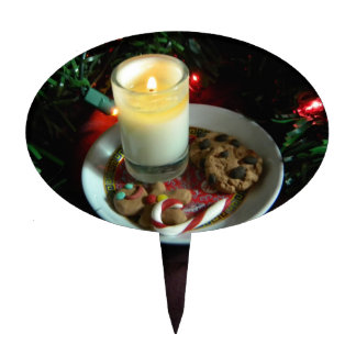 Christmas Cookie Candle III Cake Topper