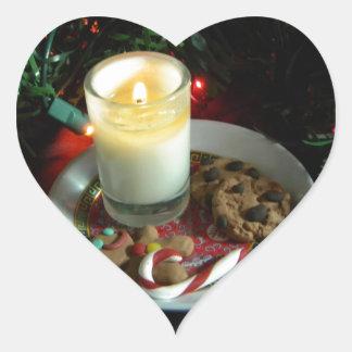 Christmas Cookie Candle III Heart Sticker