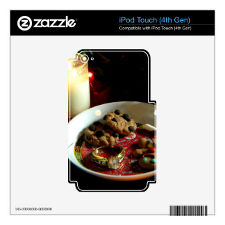 Christmas Cookie Candle iPod Touch 4G Skin