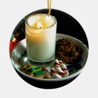 Christmas Cookie Candle IV Ceramic Ornament