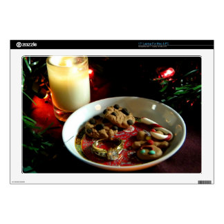 Christmas Cookie Candle Laptop Skin