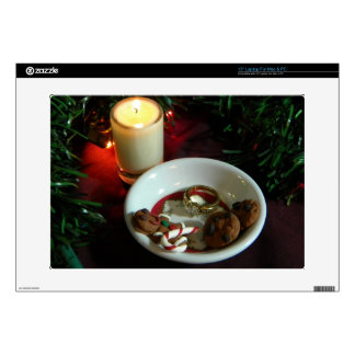 """Christmas Cookie Candle V 15"""" Laptop Skin"""