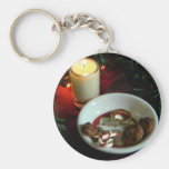 Christmas Cookie Candle V Key Chains