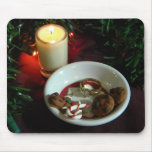 Christmas Cookie Candle V Mousepads