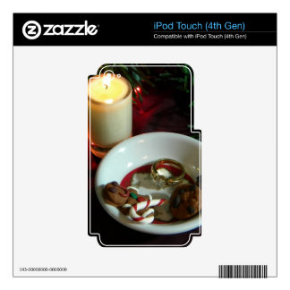 Christmas Cookie Candle V Skin For iPod Touch 4G