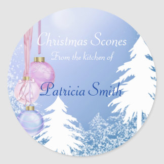 Christmas Cookie, Candy, Sweets Labels Classic Round Sticker