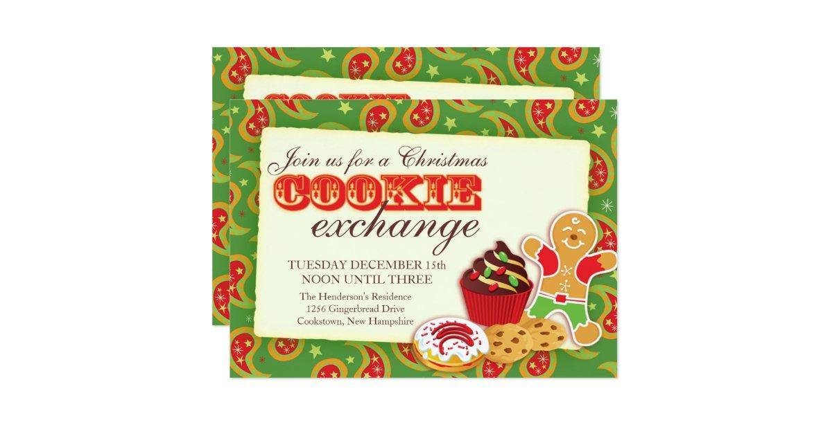 Wedding Gift Exchange Etiquette : Christmas Cookie exchange & etiquette invitation Zazzle