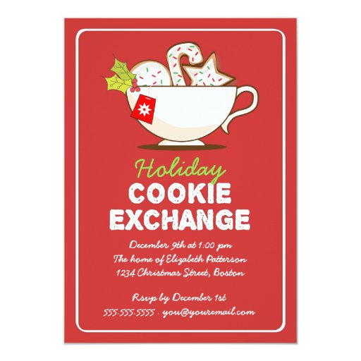 Christmas Cookie Exchange Holiday Party Invitation Zazzle