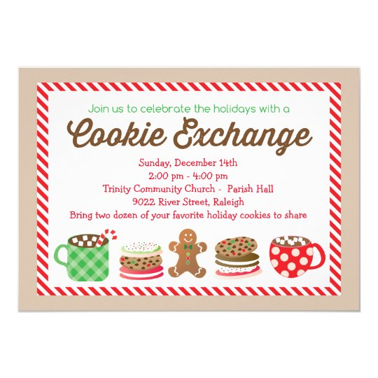 Christmas Cookie Exchange Invitation Zazzle Com