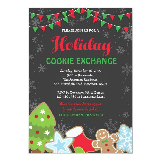 Christmas Cookie Exchange Invitation Cookie Swap Zazzle Com