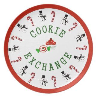 Christmas Cookie Exchange Melamine Plate