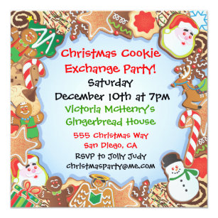 Cookie Exchange Invitations Announcements Zazzle