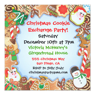 Christmas Cookie Exchange Party Invitation at Zazzle