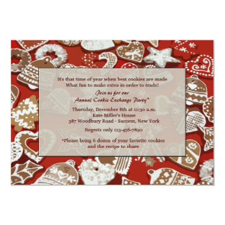 Christmas Cookie Exchange Party Invitation
