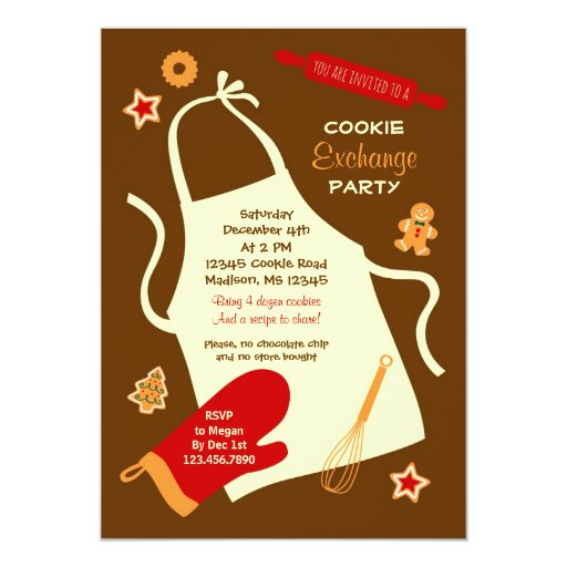 Christmas Cookie Exchange Party Invitation Zazzle