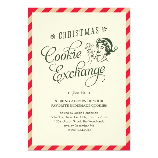 Christmas cookie exchange party invitations 5 quot x 7 quot invitation card
