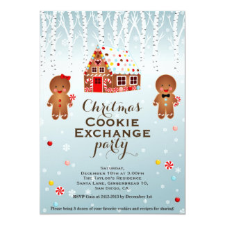 Christmas Cookie Exchange Paty Invitation