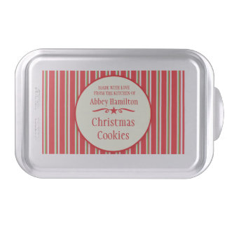 Christmas Cookie Exchange personalized snap on tin Cake Pan