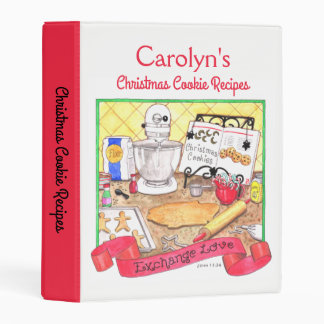 Christmas Cookie Exchange Recipes Personalized Mini Binder