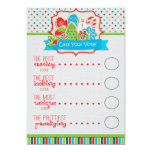 Christmas Cookie Exchange Voting Ballots Customized Announcement Cards