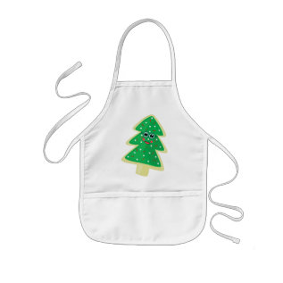 Christmas Cookie Face Kids' Apron at Zazzle