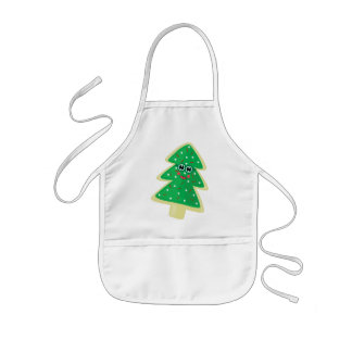 Christmas Cookie Face Kids' Apron