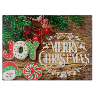 Christmas cookie fun Holiday cutting board