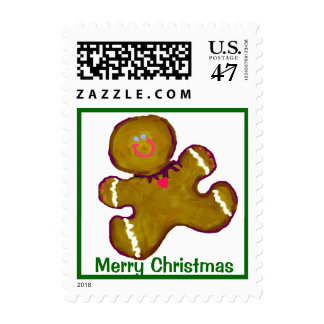 Christmas Cookie Gingerbread Man Postage