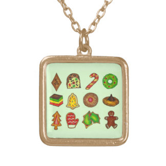 Christmas Cookie Holiday Stocking Stuffer Necklace