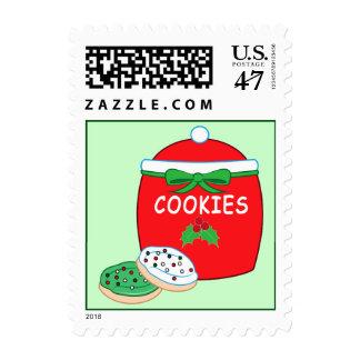 Christmas Cookie Jar and Cookies Postage