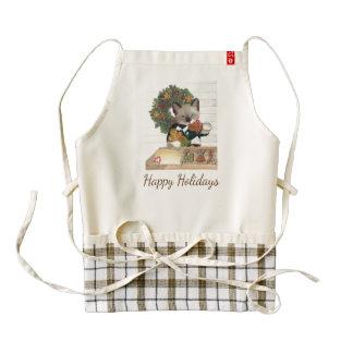 Christmas Cookie Kitten Custom Zazzle HEART Apron